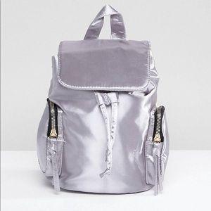 NWT Yoki silver mini backpack belt bag fanny pack